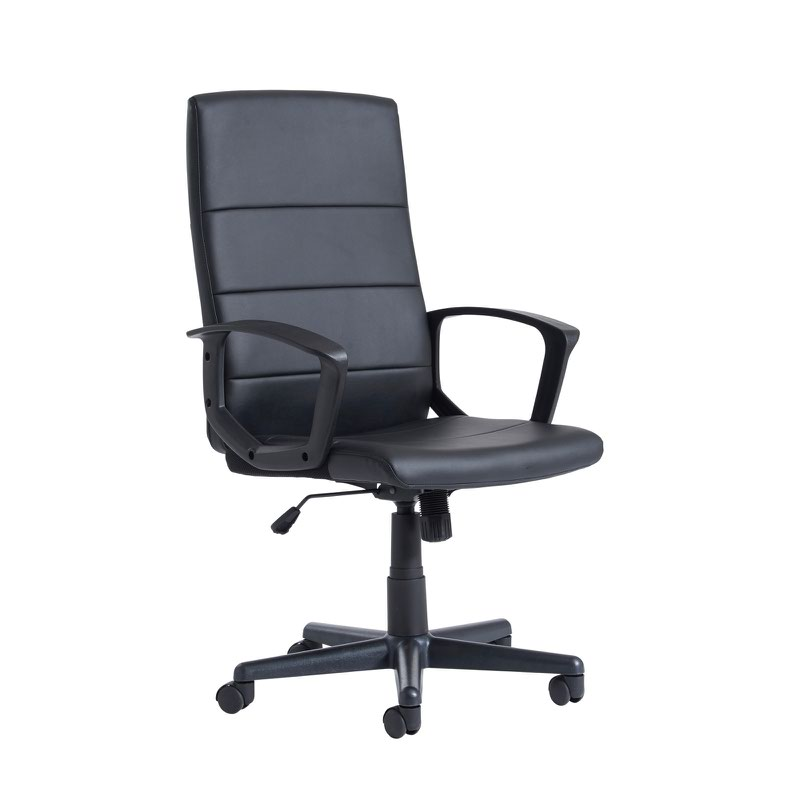 best office chair after spinal fusion party table and covers for sale ascona high back managers black faux leather