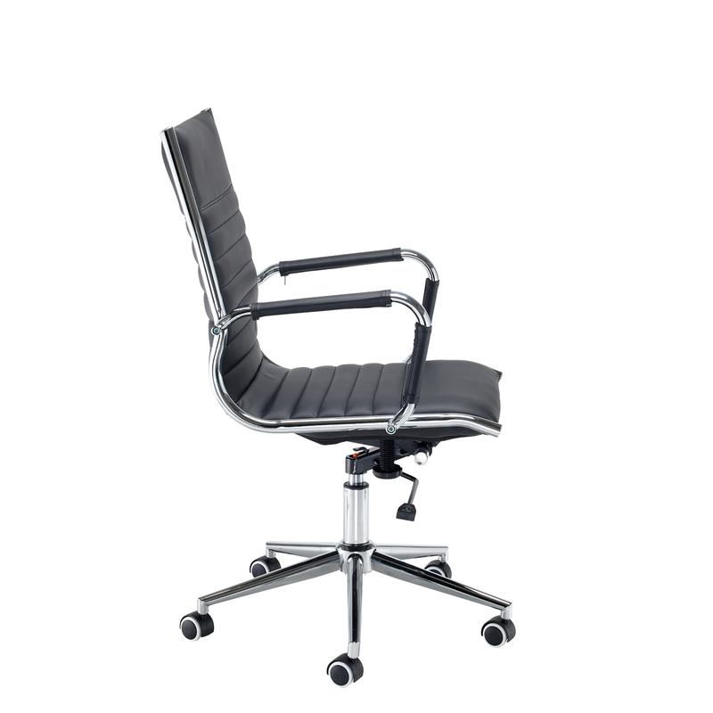 best office chair after spinal fusion air bean bag bari medium back executive black faux leather
