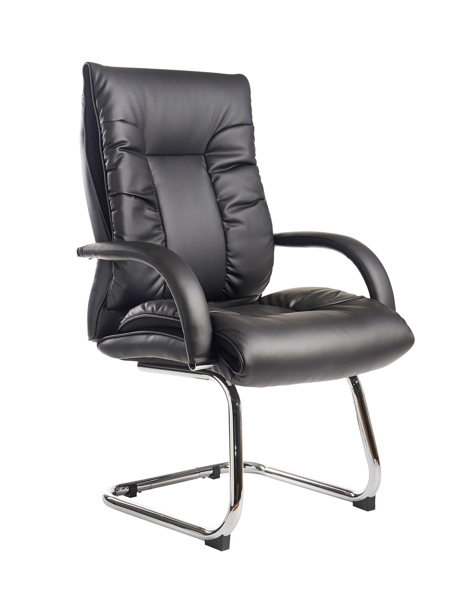 best office chair after spinal fusion walmart portable chairs derby high back visitors black faux leather