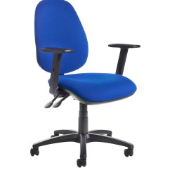 Best Office Chair After Spinal Fusion And A Half Chaise Jota High Back Operator With Adjustable Arms Blue