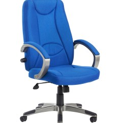 Best Office Chair After Spinal Fusion Glider Slipcovers Lucca High Back Fabric Managers Blue