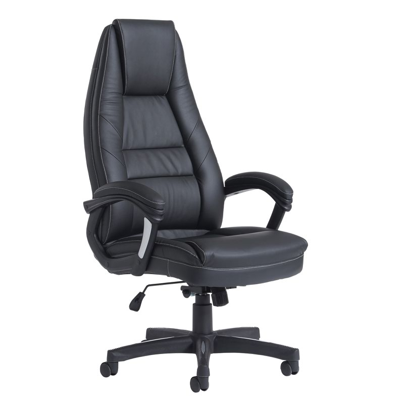 best office chair after spinal fusion wheelchair zone stories noble high back managers black faux leather