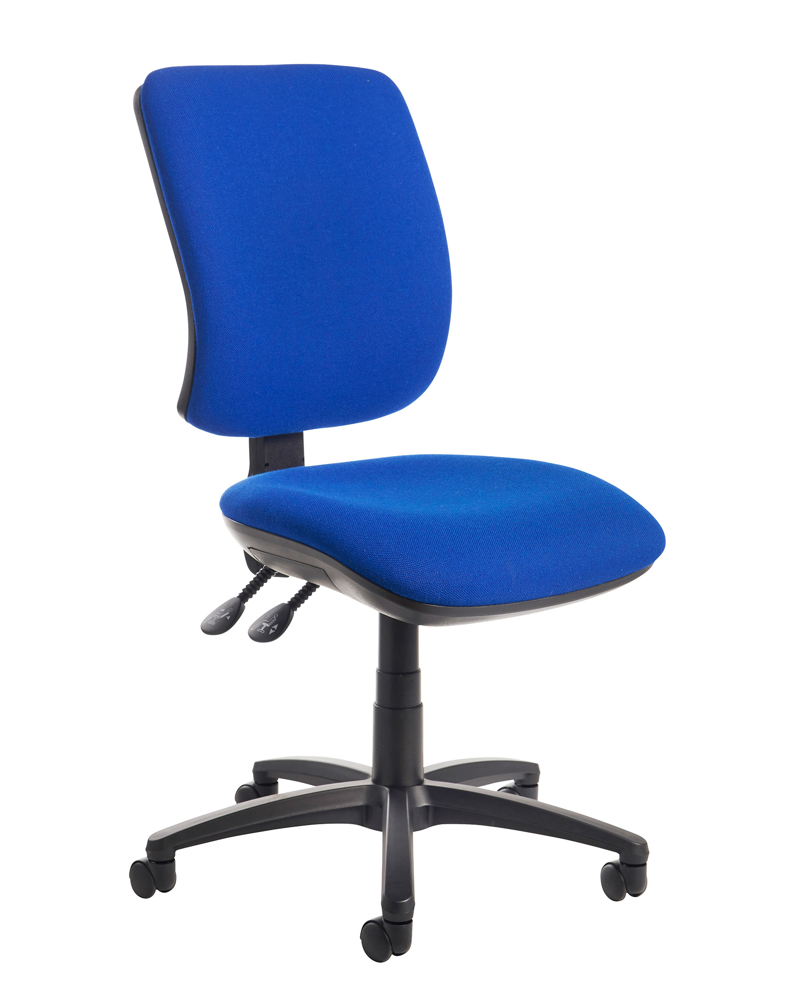 best office chair after spinal fusion revolving wing senza high back operator with no arms blue