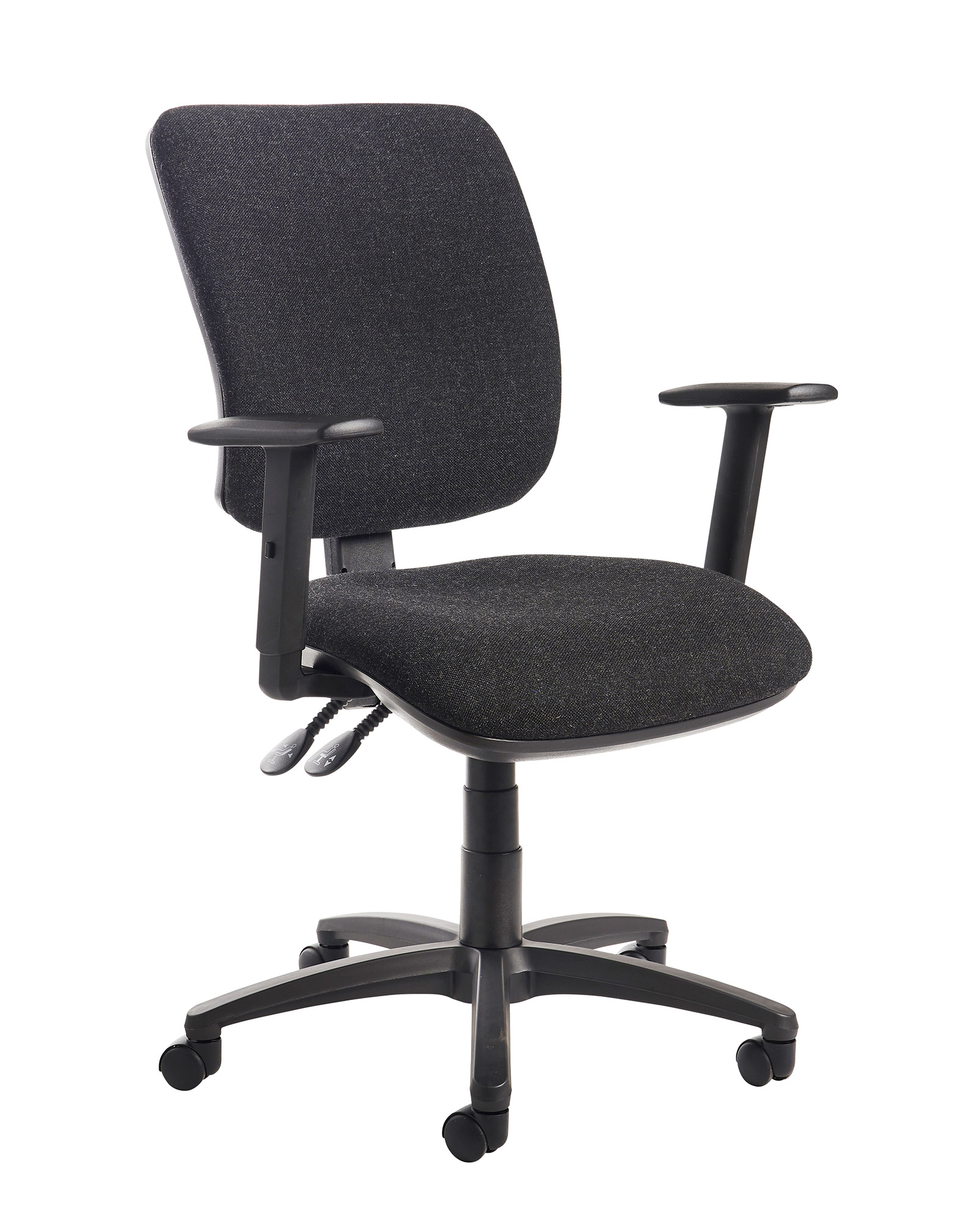 best office chair after spinal fusion modern high back chairs for living room senza operator with adjustable arms