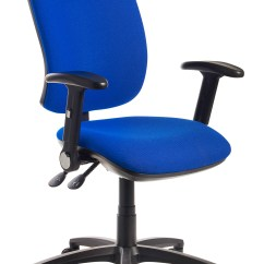 Best Office Chair After Spinal Fusion Covers For Winter Senza High Back Operator With Folding Arms Blue