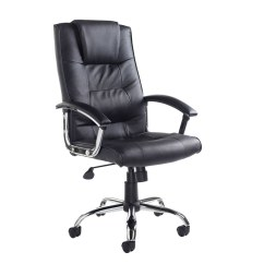 Best Office Chair After Spinal Fusion Spring Rocking Somerset High Back Managers Black Leather Faced