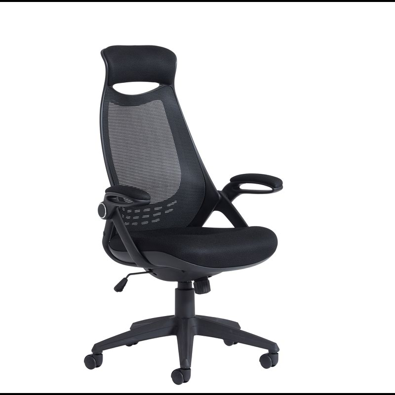 ergonomic chair with head support amish made adirondack chairs from ohio tuscan mesh high back black