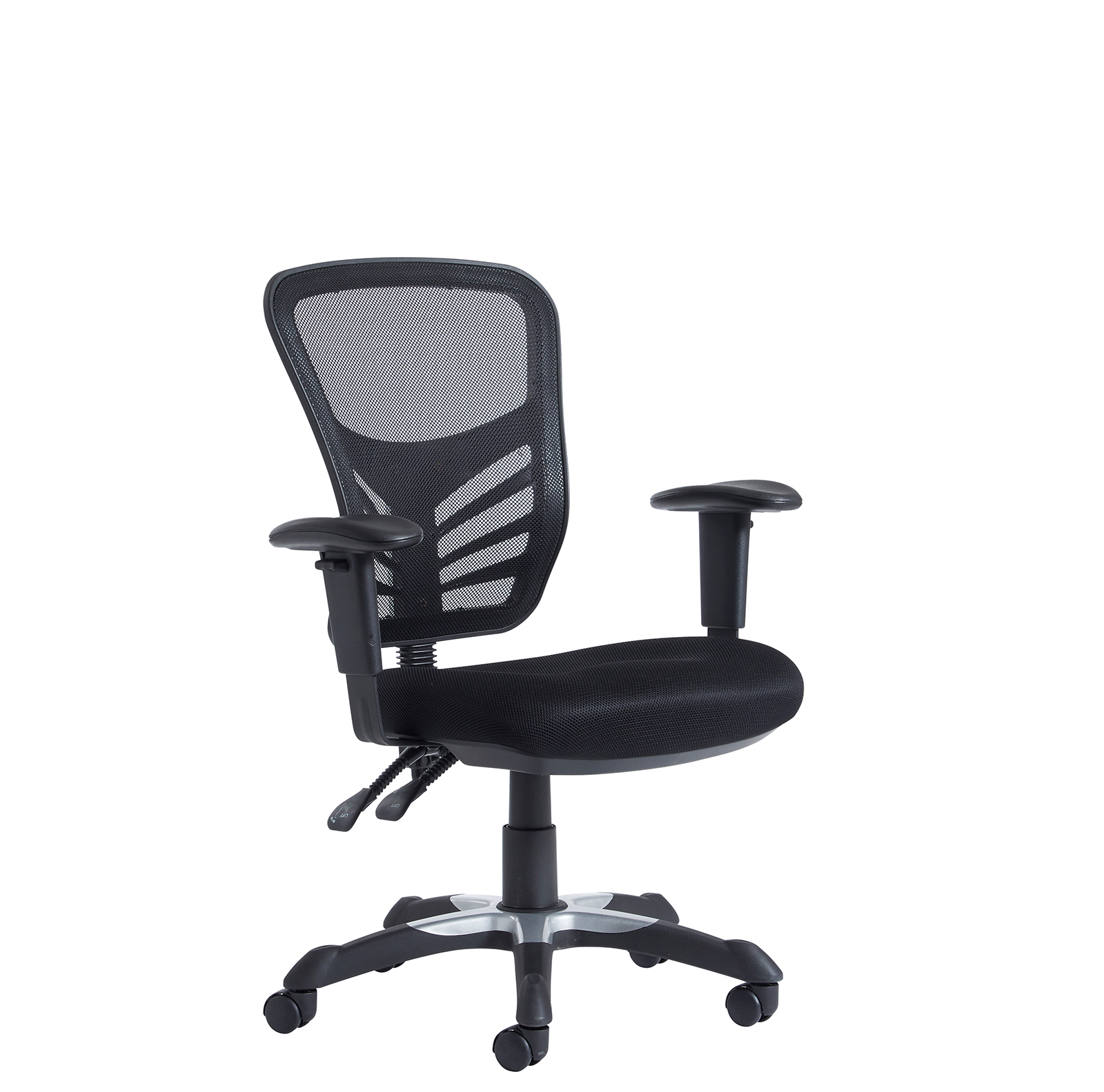 best office chair after spinal fusion clear plastic covers vantage mesh 2 lever task with adjustable arms