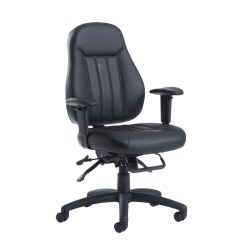 Best Office Chair After Spinal Fusion Big Fold Out Zeus Medium Back 24hr Task Black Faux Leather