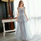 Silver Plus Size Prom Dresses