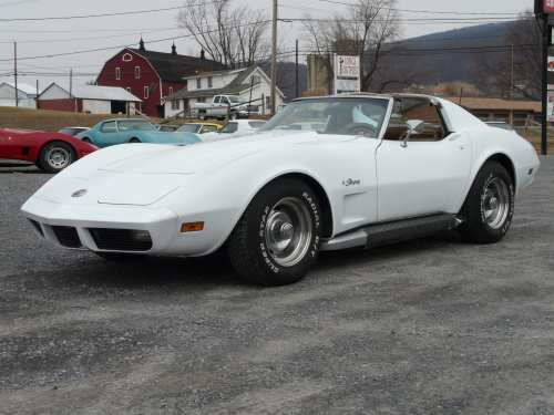 small resolution of 1974 white corvette stingray t top 4spd saddle int 37k miles