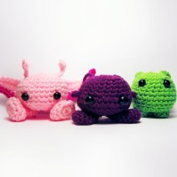Purploids, and Pinkloids, and Bloops (oh my) - 3 Free Patterns