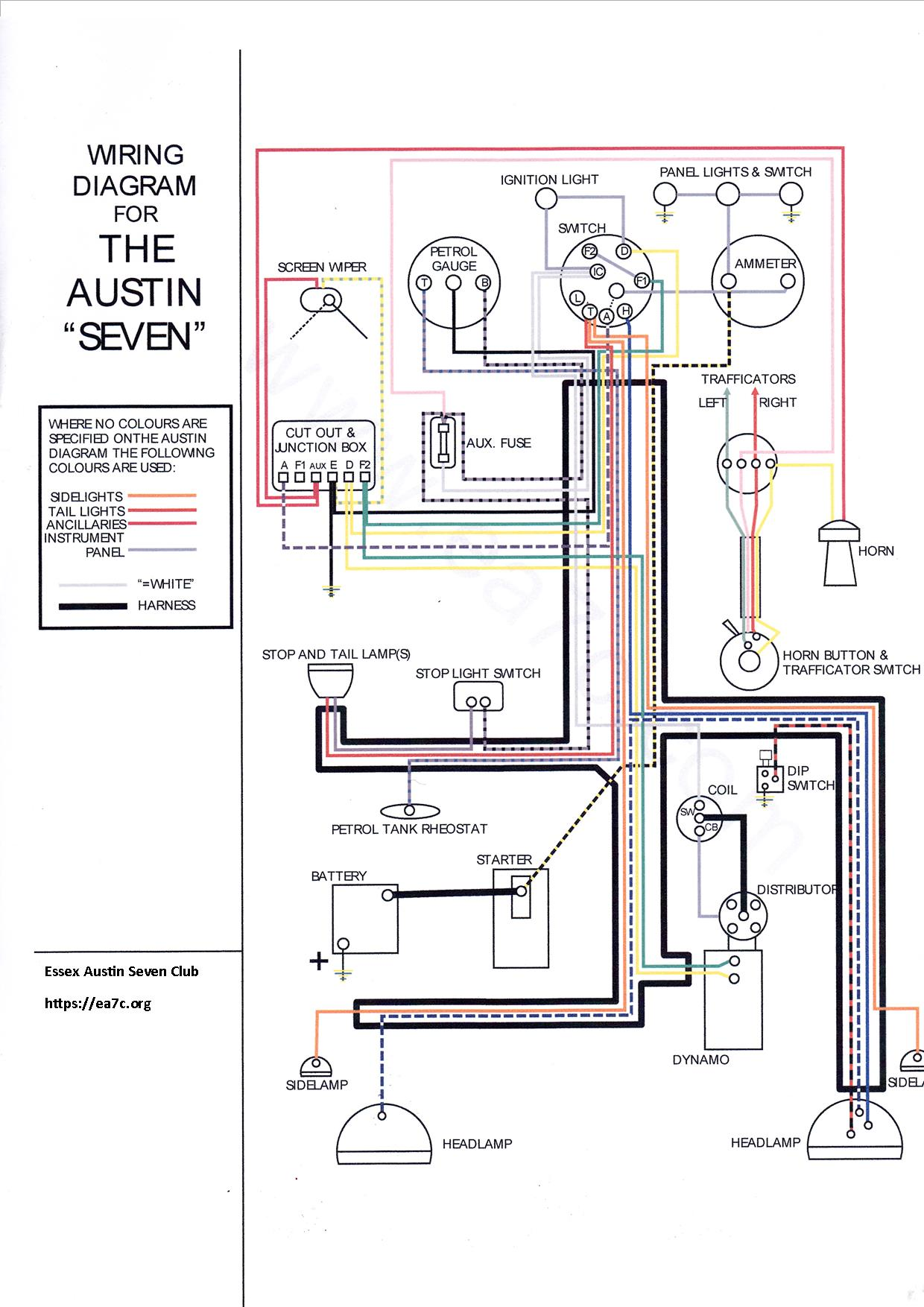 small resolution of austin seven wiring diagram online wiring diagram technical data essex austin seven clubaustin seven wiring diagram