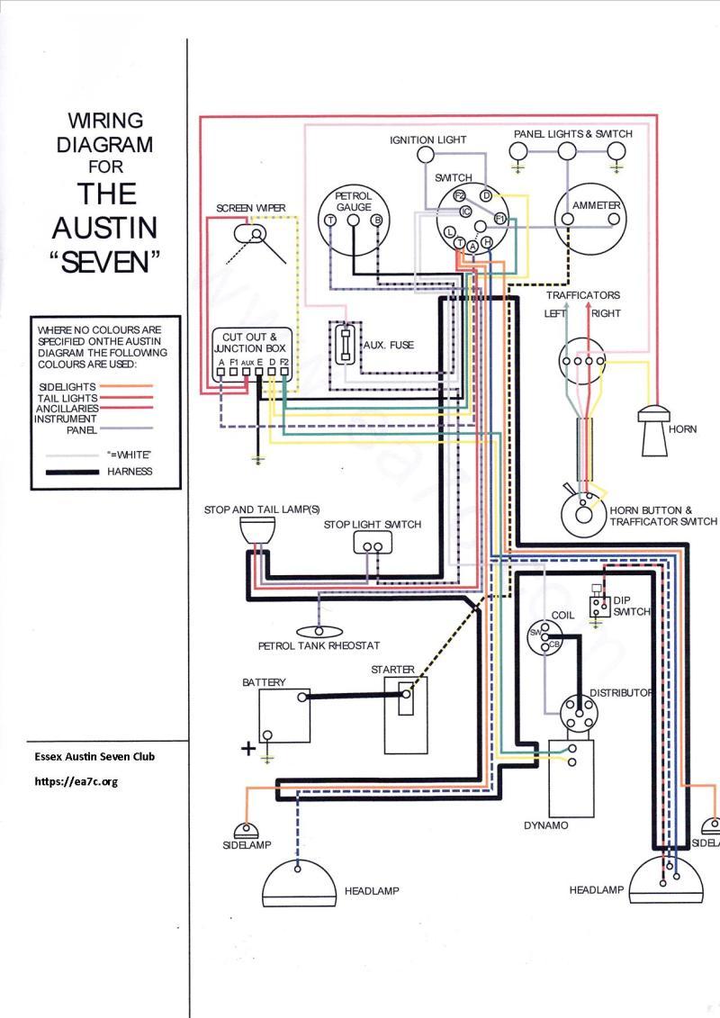 hight resolution of technical data essex austin seven club austin distributor wiring diagram