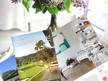 real estate world print publication marketing illawarra