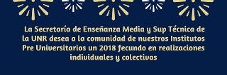 SALUTACIONES DE PARTE DE LA SECRETARÍA DE ENSEÑANZA MEDIA Y SUPERIOR TÉCNICA DE LA UNR