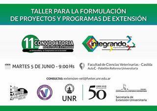 TALLER PARA LA FORMULACIÓN DE PROYECTOS Y PROGRAMAS DE EXTENSIÓN