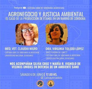 CÁTEDRA LIBRE DE SOBERANÍA ALIMENTARIA: CUARTO ENCUENTRO, 6 DE JUNIO.