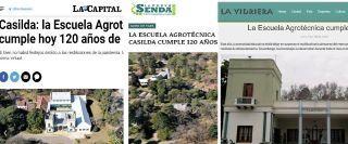 REPERCUSIÓN EN LOS MEDIOS DE LA REGIÓN POR LOS 120 AÑOS DE LA AGRO