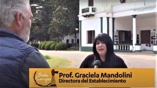 """NOTA COMPLETA DE """"SÓLO CAMPO TV"""" REALIZADA A LA DIRECTORA DE LA ESCUELA, GRACIELA MANDOLINI, CON MOTIVO DEL 120° ANIVERSARIO DE LA AGRO"""