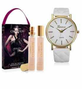 Montre Geneva Blanche+ Parfum eau de toilette 2x35ml Made in turquie
