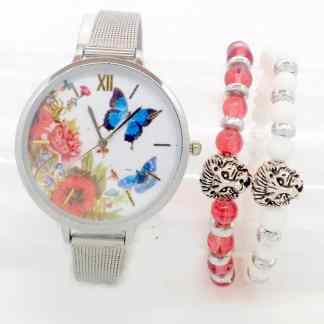 Montre Papillon plus deux Bracelet Lion