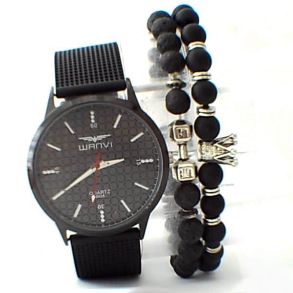 Montre Wanvi avec 2 Bracelet livrée en Boite Cadeau