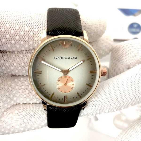 Montre Armani Noir avec Bracelet Menotte casablanca maroc rabat livraison tanger