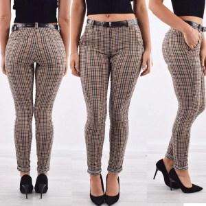 Pantalon Carreaux Maroc Livraison Marron