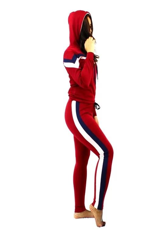 Chic Survêtement Sport Femme - Rouge