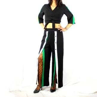 Ensemble Décontracté Chic Bandes Vert Blanc- Taille Unique - E Achat Maroc - Gucci