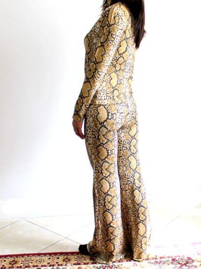 ensemble imprimé peau de serpent gris maroc marron 1