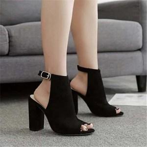 Sandale à talon Haute Couleur Noir