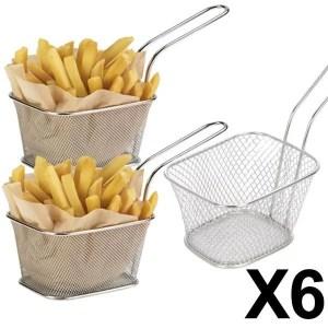 6 minis paniers a frites individuels inox 10x8 - E Achat Maroc | Montres, Parfum, Chaussures, vêtements, maison, beauté