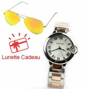 Montre Cartier Balon Bleu Argenté Bronze Lunette RayBan orange
