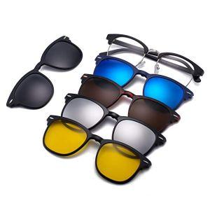 Lunettes 6-en-1 Magic Vision Aimant à changement rapide solaire unisexe ( Multicolore) maroc casablanca