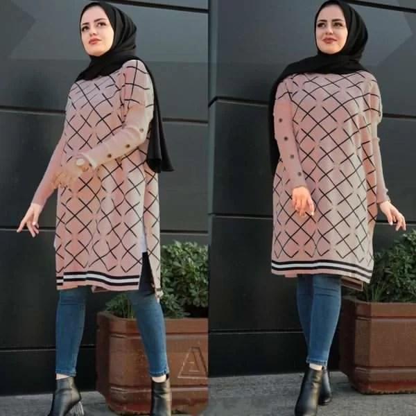 كابات عالية الجودة وبألوان زاهية تناسب جميع الأذواق maroc hijab Cape Trikot Long Rose - كاب تركي