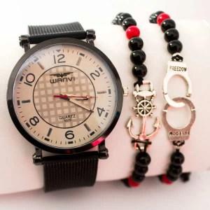 Montre Marine avec deux bracelet Cadeau classique