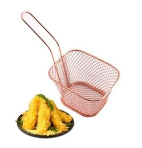 panier de friture bronze 720x 288x300 - Pack 6 Mini Panier Présentation Frites Alimentaire Inoxydable Cuivré