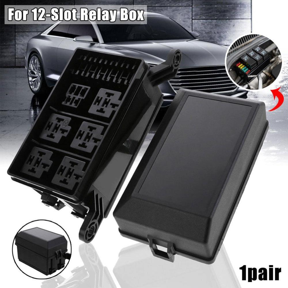 medium resolution of details about automotive car fuse relay holder 12 slot relay box 6 relays 6 atc ato fuses sy