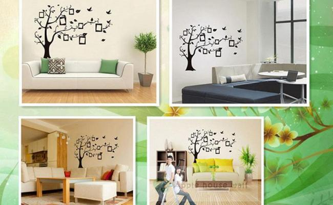 Buyincoins Diy Home Decoration Black Three Photo Frame Art