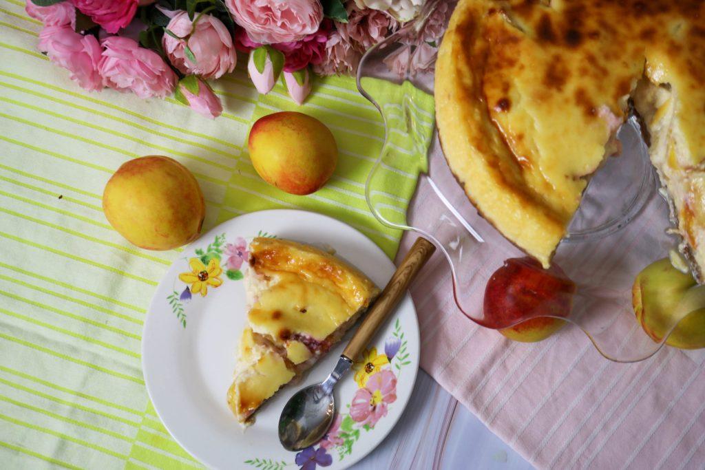 Lower Fat Peach Cheesecake