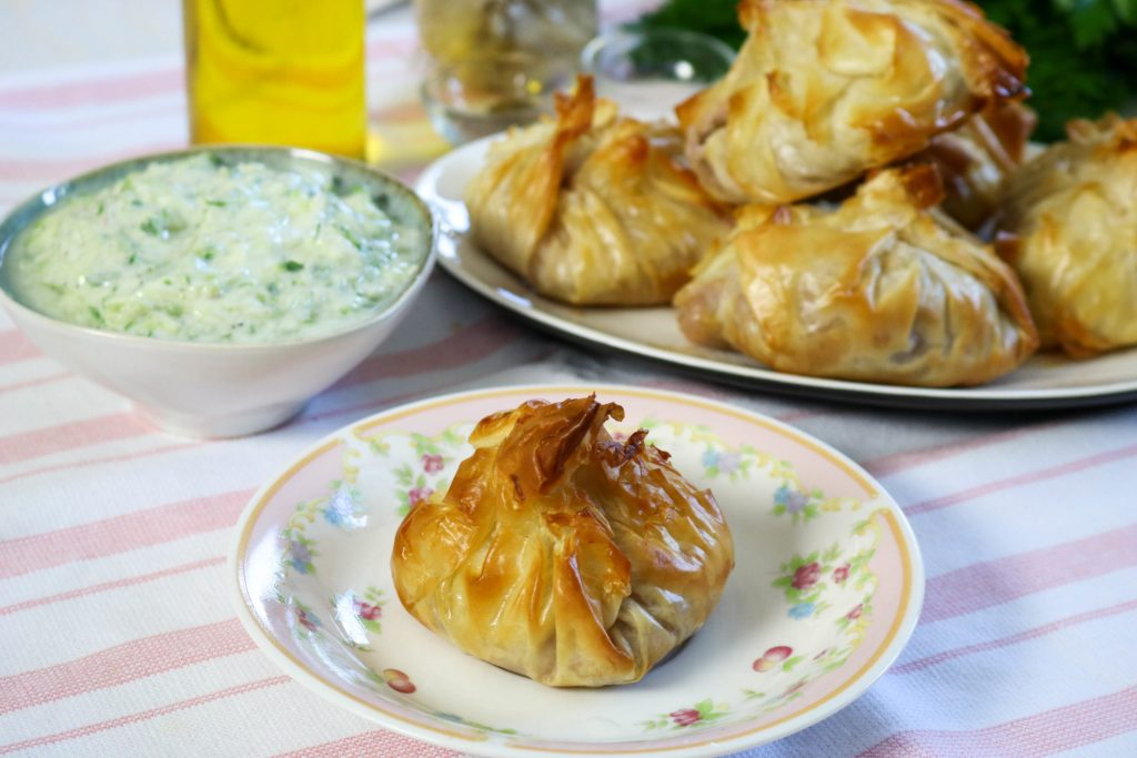Bake Greek Phyllo Salmon Packets