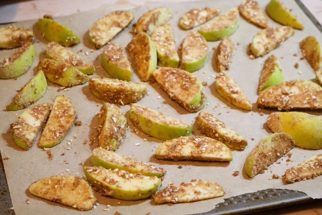 Apples on Baking Sheet
