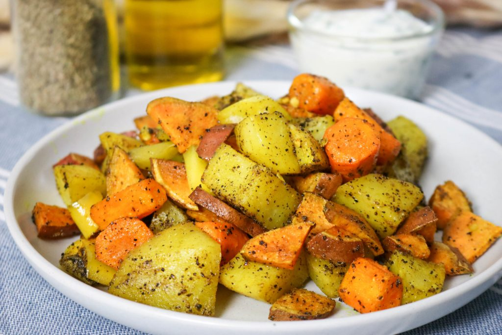Coconut Oil Roasted Vegetables With Indian Spices