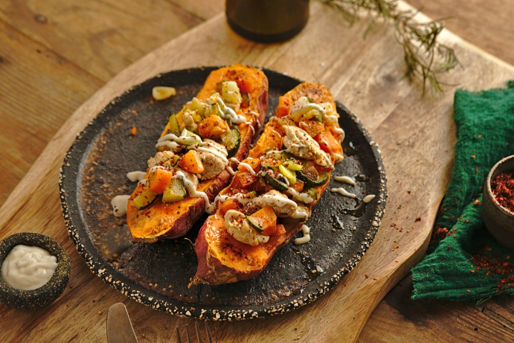 TURKEY STUFFED SWEET POTATOES 4