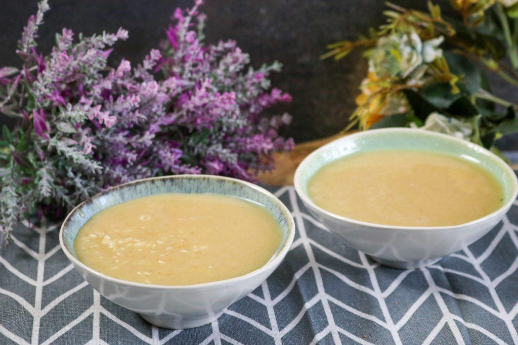 Pour Rice Pudding Into Bowl