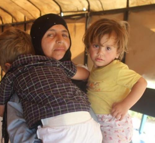 niños sirios afectados por minas antipersona