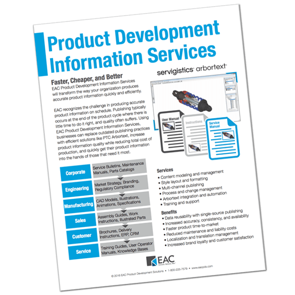 Product Development Information Services Brochure | EAC Product Development Solutions