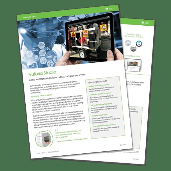 Vuforia Studio Product Brief | EAC Product Development Solutions